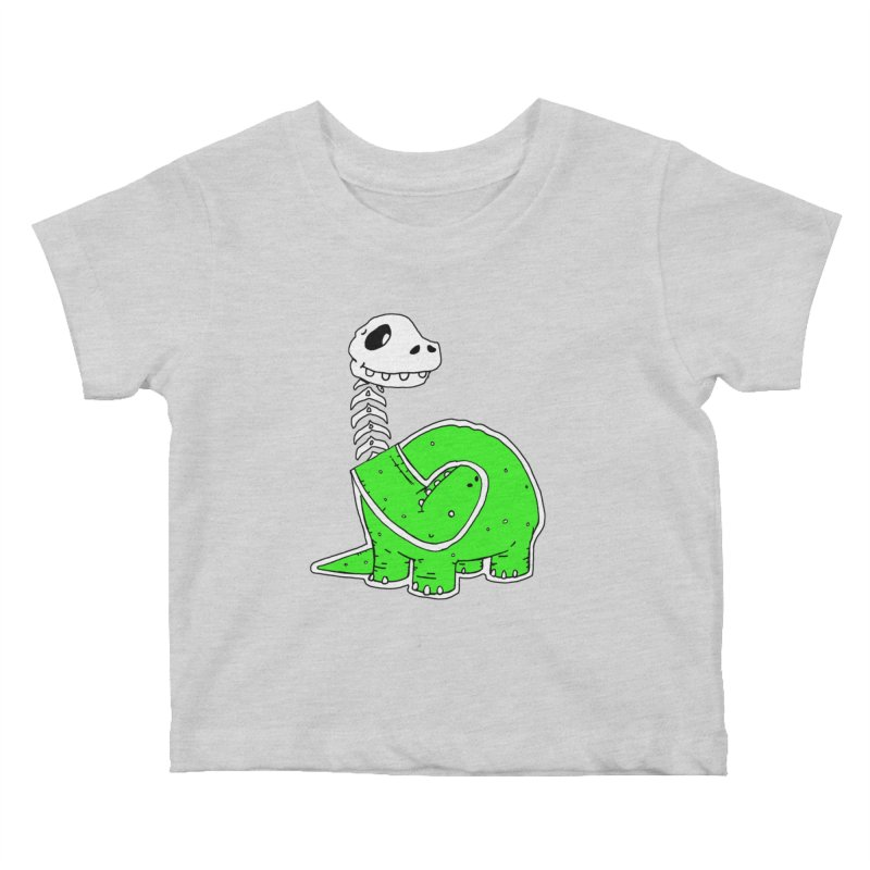 Cropped Dino Kids Baby T-Shirt by Chris Williams' Artist Shop
