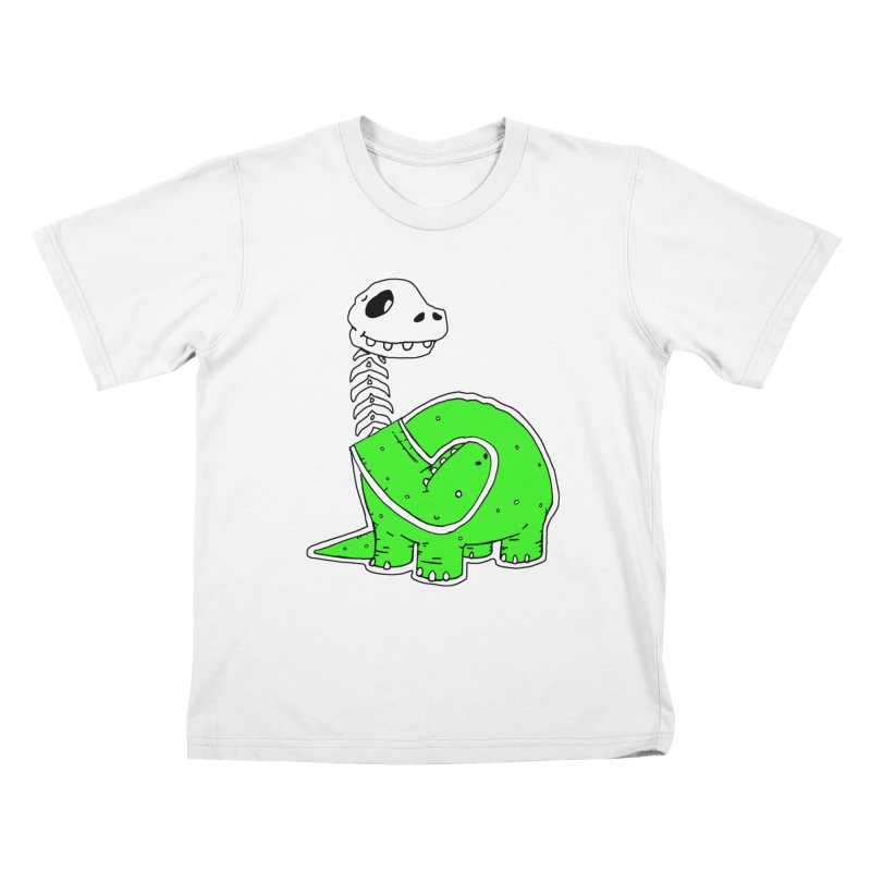 Cropped Dino Kids T-Shirt by Chris Williams' Artist Shop