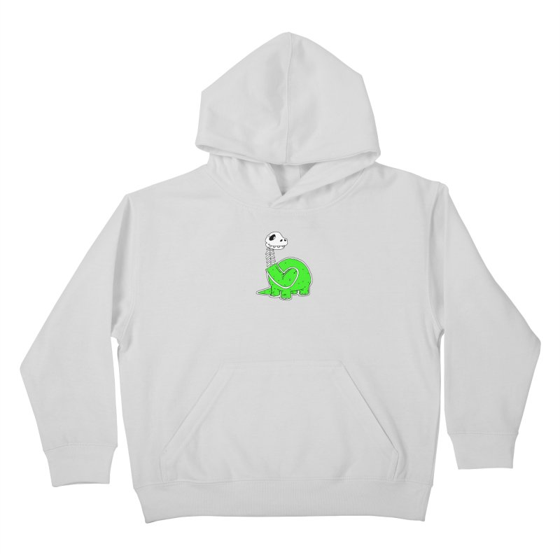Cropped Dino Kids Pullover Hoody by Chris Williams' Artist Shop