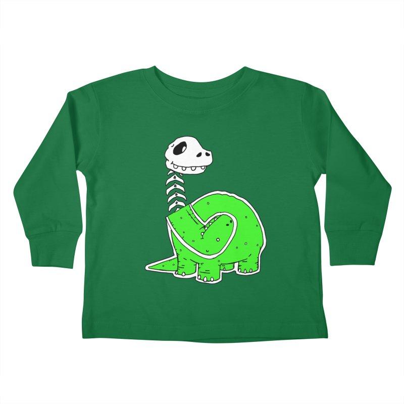 Cropped Dino Kids Toddler Longsleeve T-Shirt by Chris Williams' Artist Shop