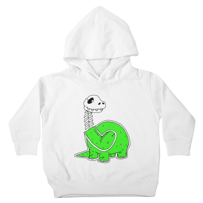 Cropped Dino Kids Toddler Pullover Hoody by Chris Williams' Artist Shop
