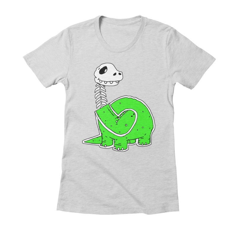 Cropped Dino Women's Fitted T-Shirt by Chris Williams' Artist Shop
