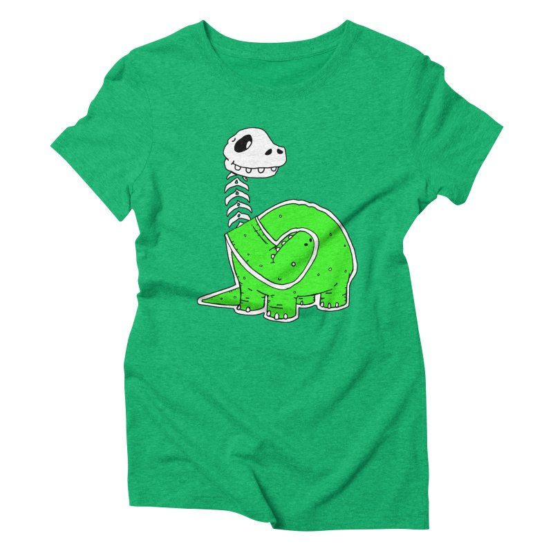 Cropped Dino Women's Triblend T-Shirt by Chris Williams' Artist Shop