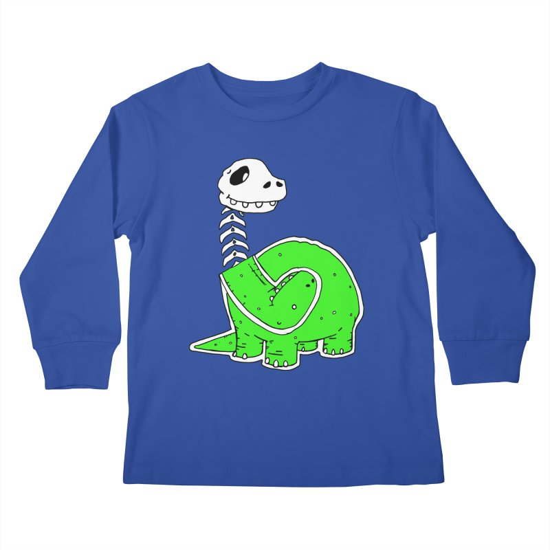 Cropped Dino Kids Longsleeve T-Shirt by Chris Williams' Artist Shop