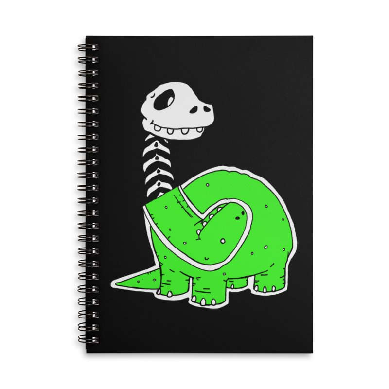Cropped Dino Accessories Lined Spiral Notebook by Chris Williams' Artist Shop