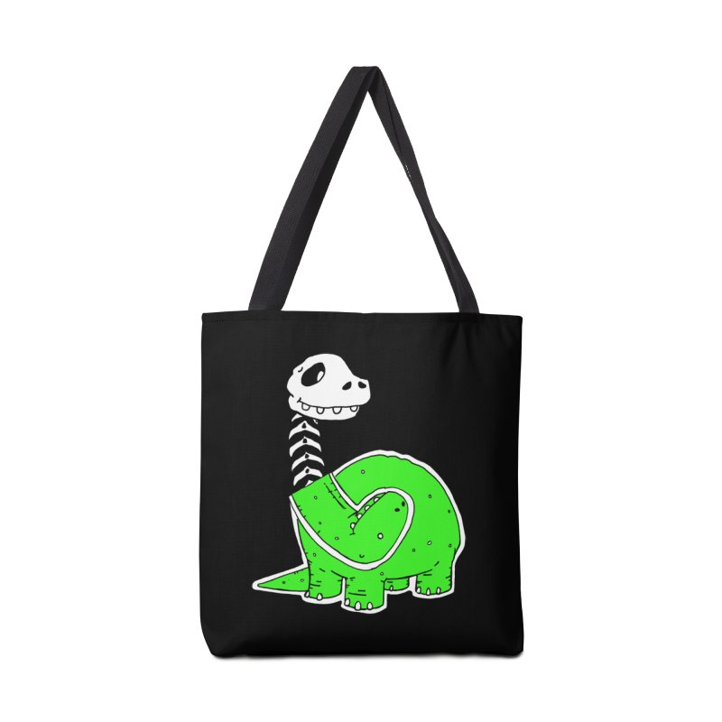 Cropped Dino Accessories Tote Bag Bag by Chris Williams' Artist Shop