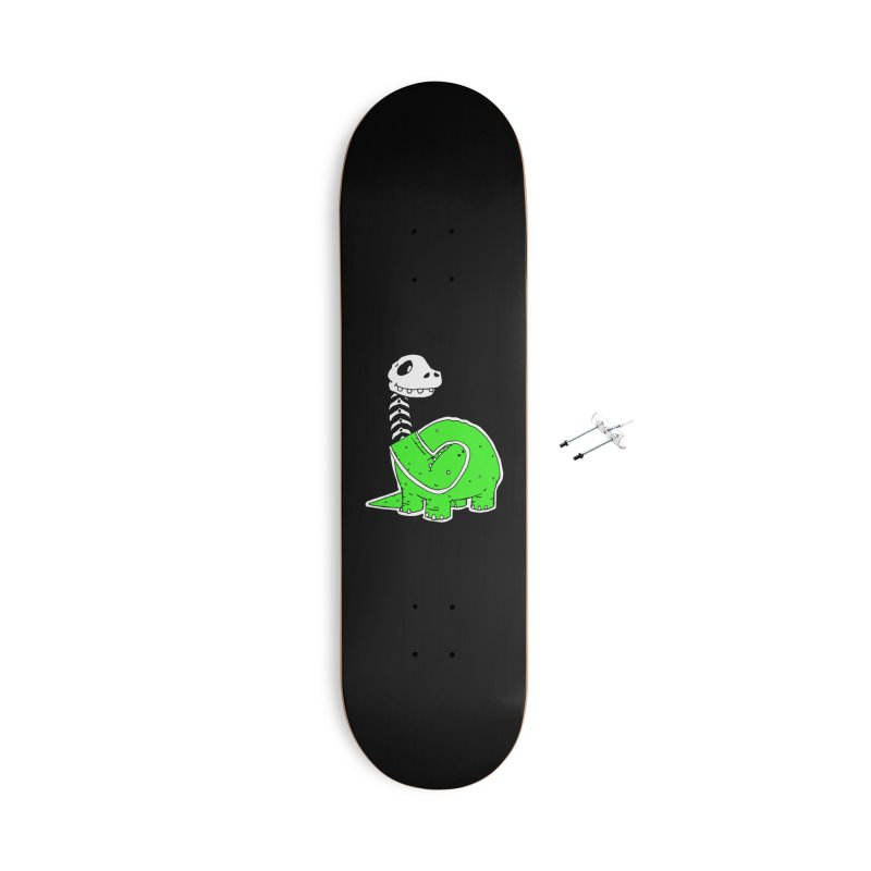 Cropped Dino Accessories With Hanging Hardware Skateboard by Chris Williams' Artist Shop