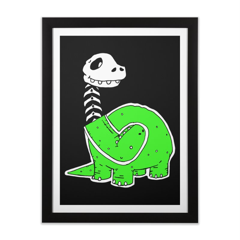 Cropped Dino Home Framed Fine Art Print by Chris Williams' Artist Shop