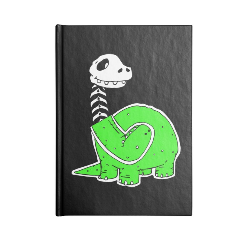 Cropped Dino Accessories Blank Journal Notebook by Chris Williams' Artist Shop