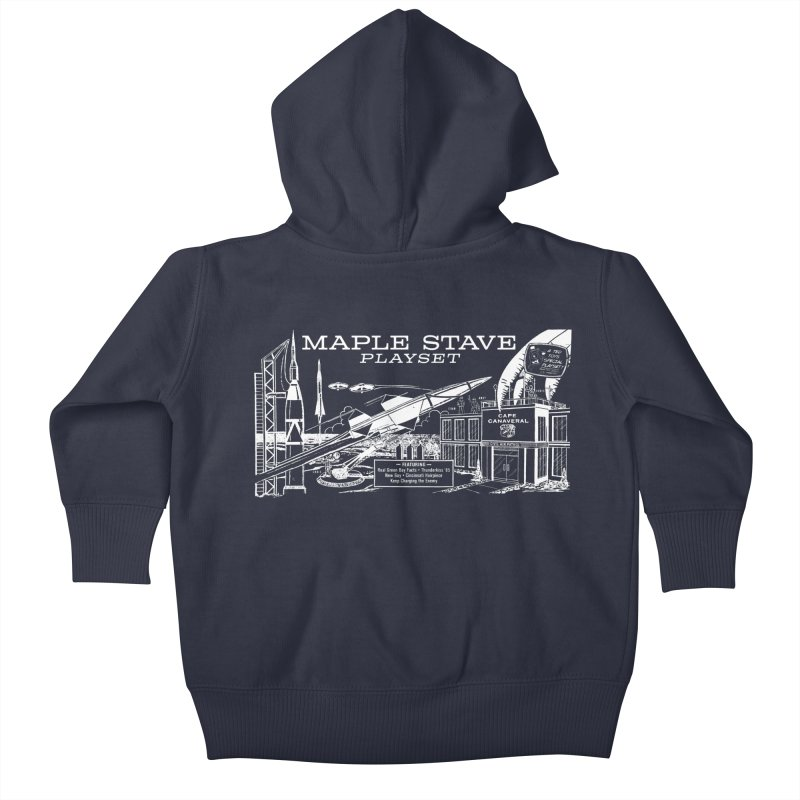 Maple Stave, the Playset Kids Baby Zip-Up Hoody by Chris Williams' Artist Shop