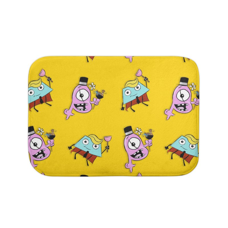 Business Trapezoid and Ted the Cyclops Magician Home Bath Mat by Chris Williams' Artist Shop