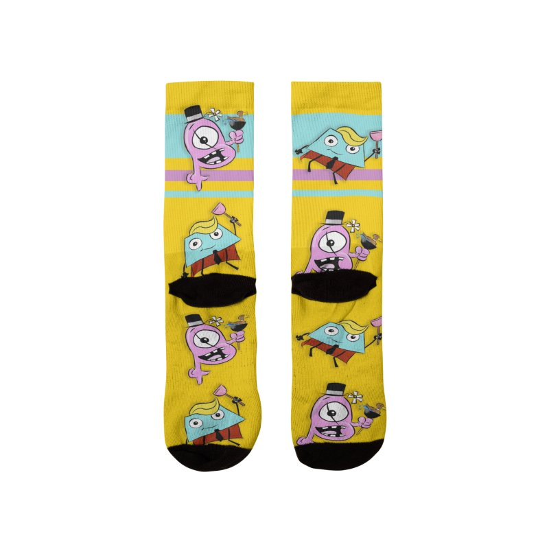 Business Trapezoid and Ted the Cyclops Magician Men's Socks by Chris Williams' Artist Shop