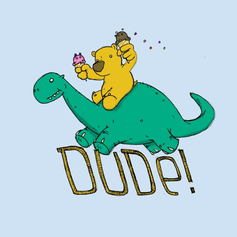 Dude! Kids Toddler T-Shirt by Chris Williams' Artist Shop