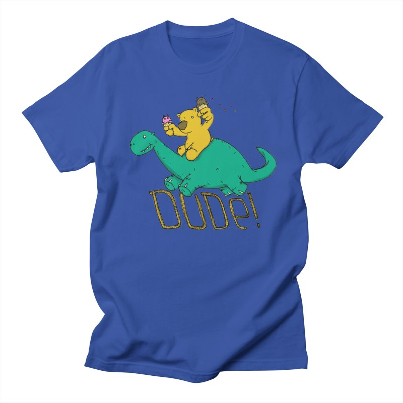 Dude! Men's Regular T-Shirt by Chris Williams' Artist Shop
