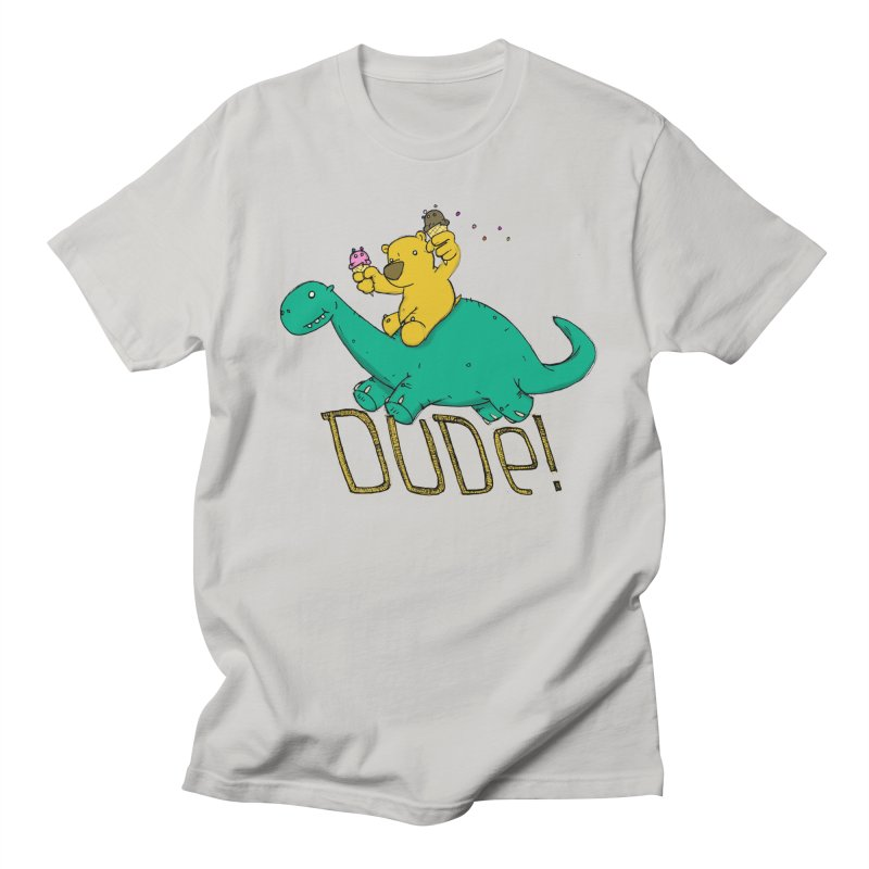 Dude! Men's Regular T-Shirt by Chris Williams' Artist Shop