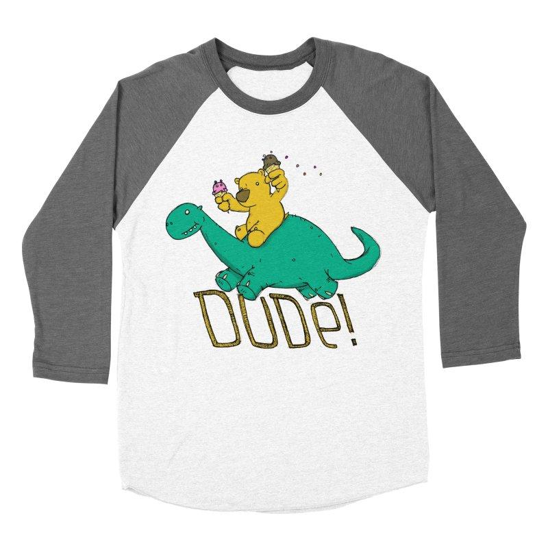 Dude! Men's Baseball Triblend Longsleeve T-Shirt by Chris Williams' Artist Shop