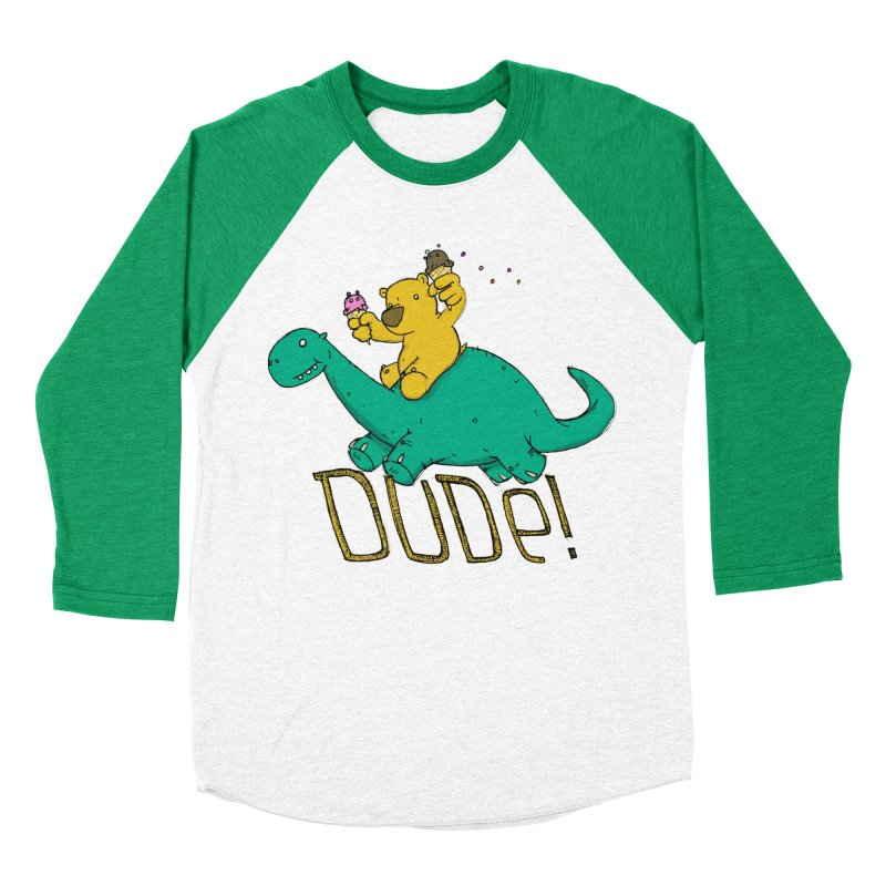 Dude! Men's Baseball Triblend Longsleeve T-Shirt by Chris Williams' Artist Shop