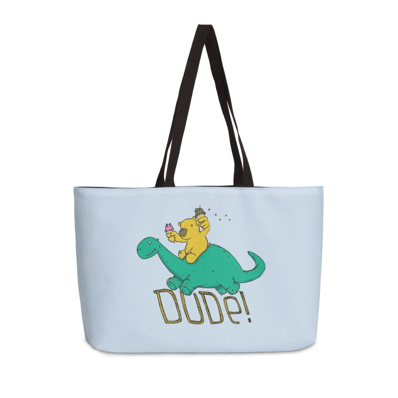 Dude! Accessories Weekender Bag Bag by Chris Williams' Artist Shop