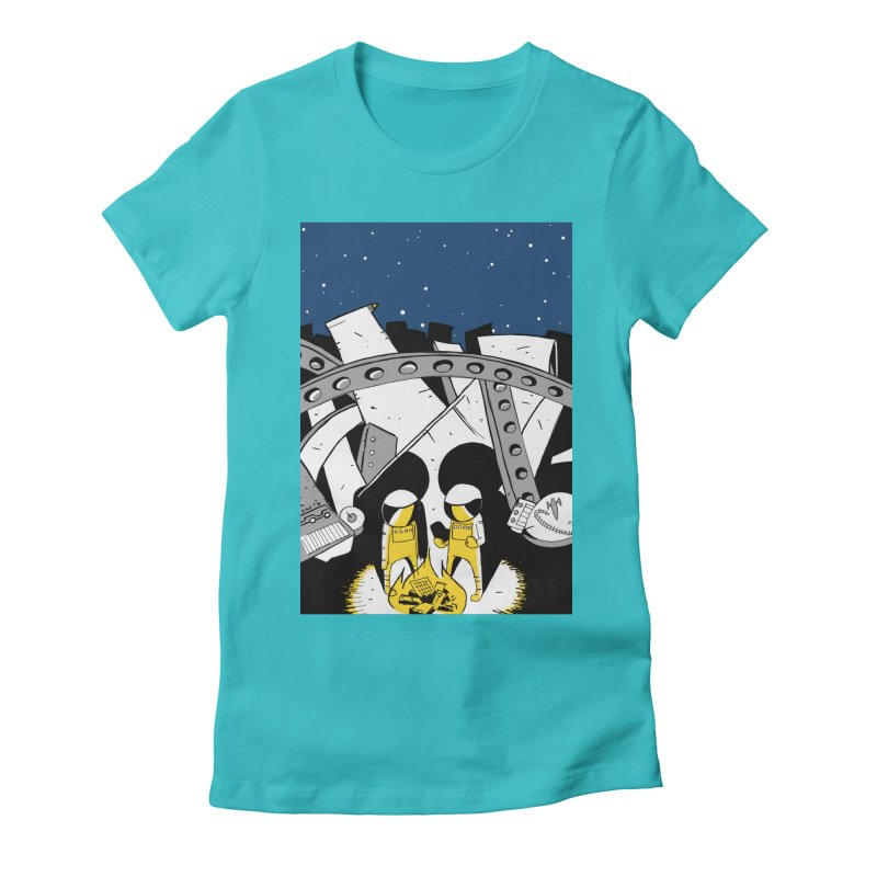 Let's Party Women's Fitted T-Shirt by Chris Williams' Artist Shop