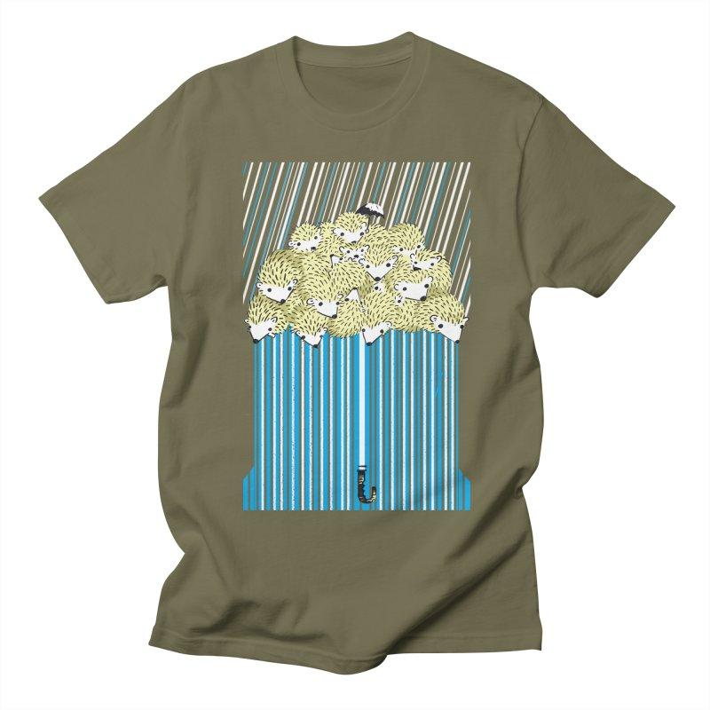 Hedgehog Umbrella Men's Regular T-Shirt by Chris Williams' Artist Shop