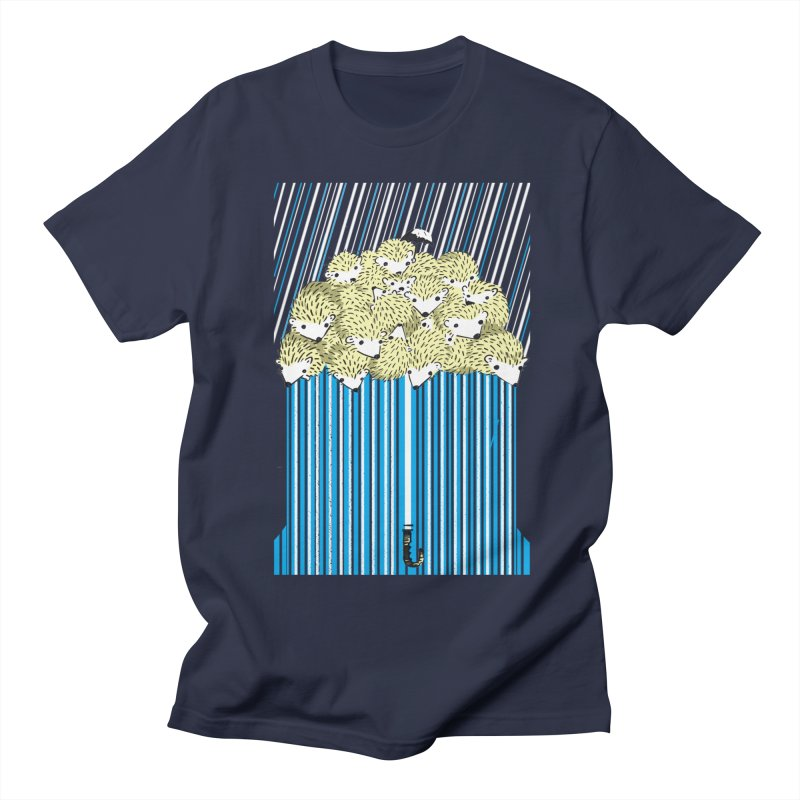 Hedgehog Umbrella Men's T-Shirt by Chris Williams' Artist Shop