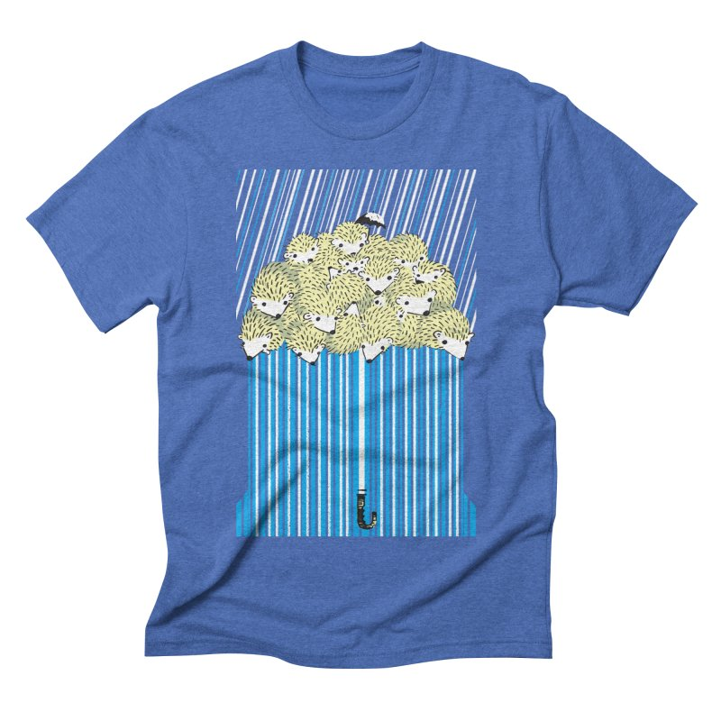 Hedgehog Umbrella Men's Triblend T-Shirt by Chris Williams' Artist Shop