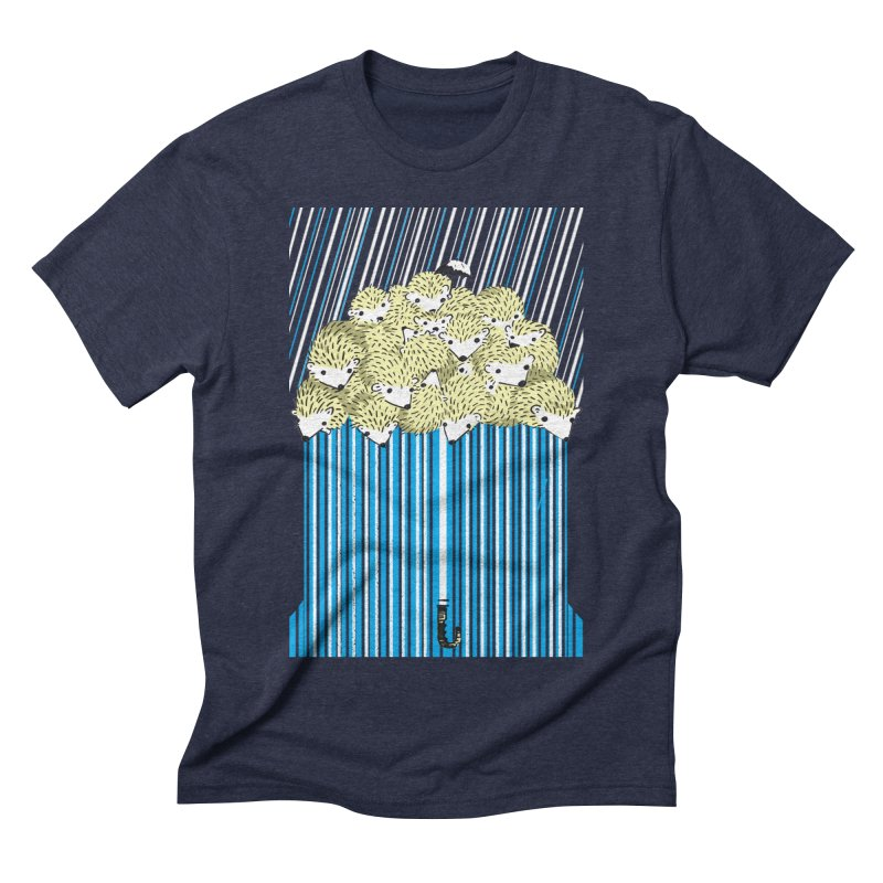 Hedgehog Umbrella Men's Triblend T-Shirt by Chris Williams' Artist Shop