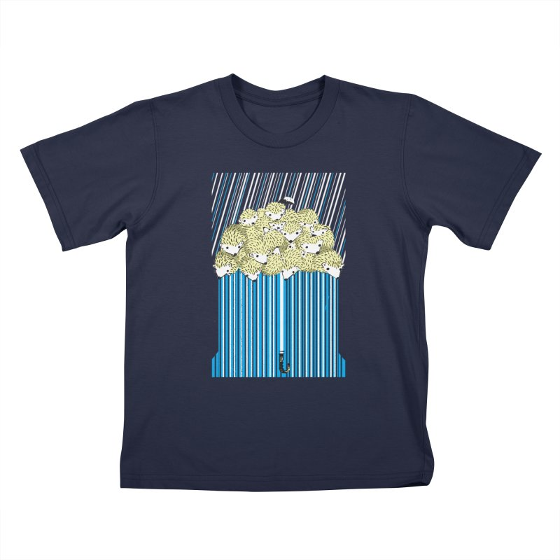 Hedgehog Umbrella Kids T-Shirt by Chris Williams' Artist Shop