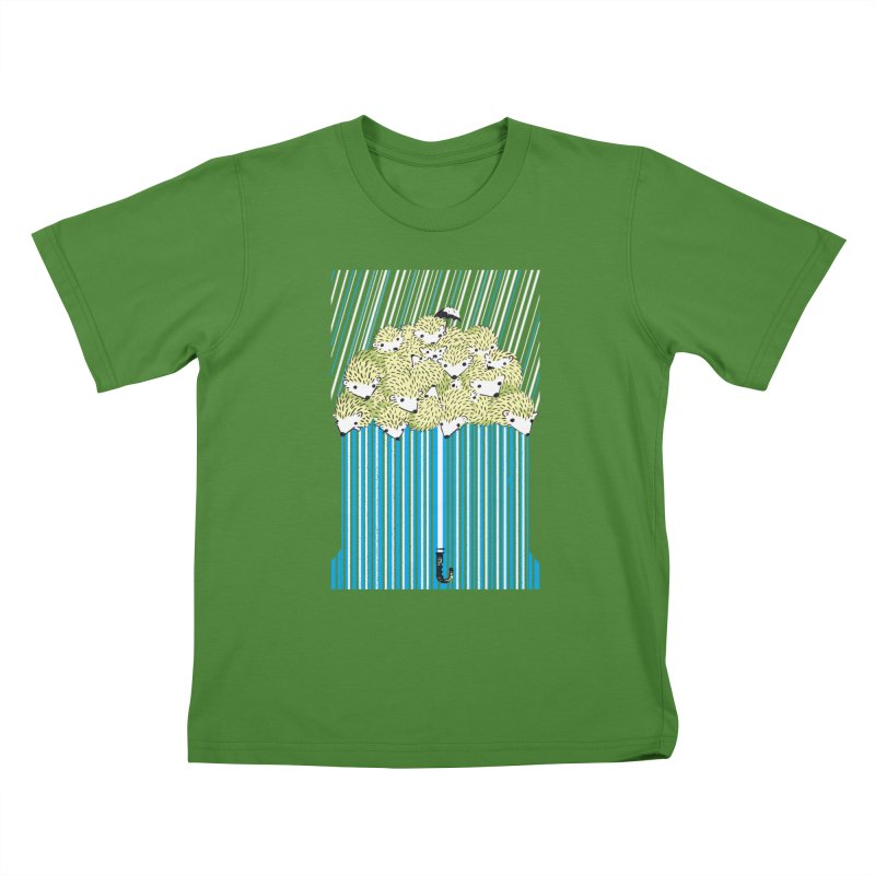 Hedgehog Umbrella Kids T-Shirt by Chris Williams' Artist Shop
