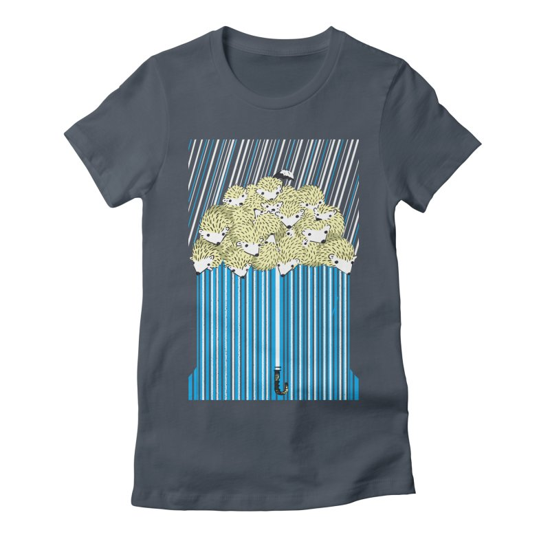 Hedgehog Umbrella Women's Fitted T-Shirt by Chris Williams' Artist Shop