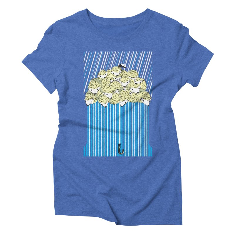 Hedgehog Umbrella Women's Triblend T-shirt by Chris Williams' Artist Shop