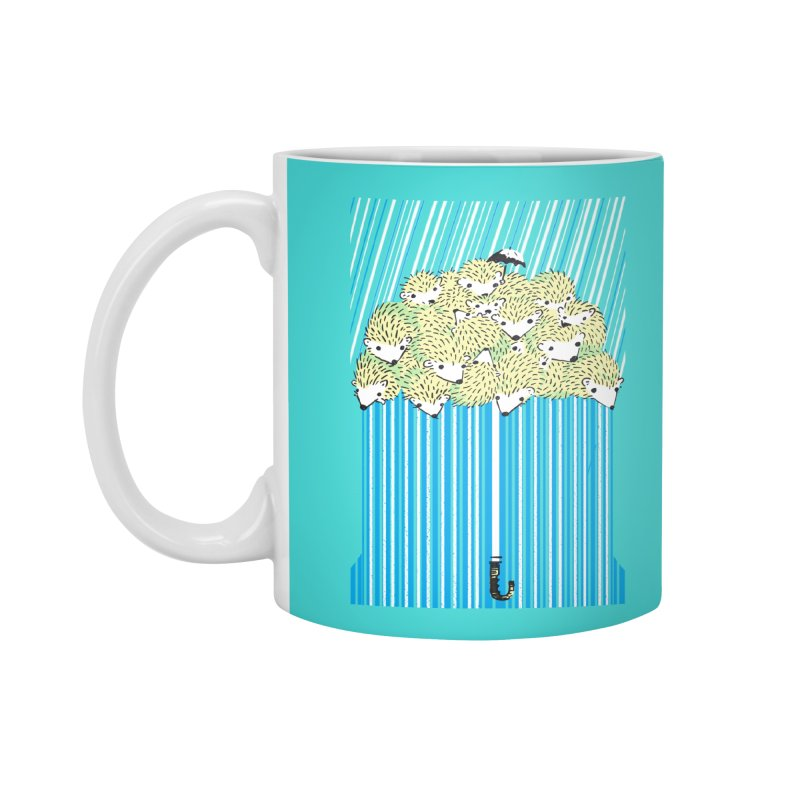 Hedgehog Umbrella Accessories Standard Mug by Chris Williams' Artist Shop