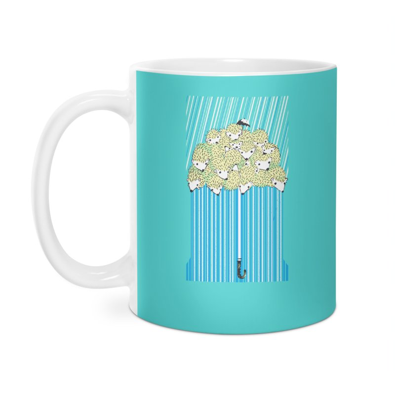 Hedgehog Umbrella Accessories Mug by Chris Williams' Artist Shop