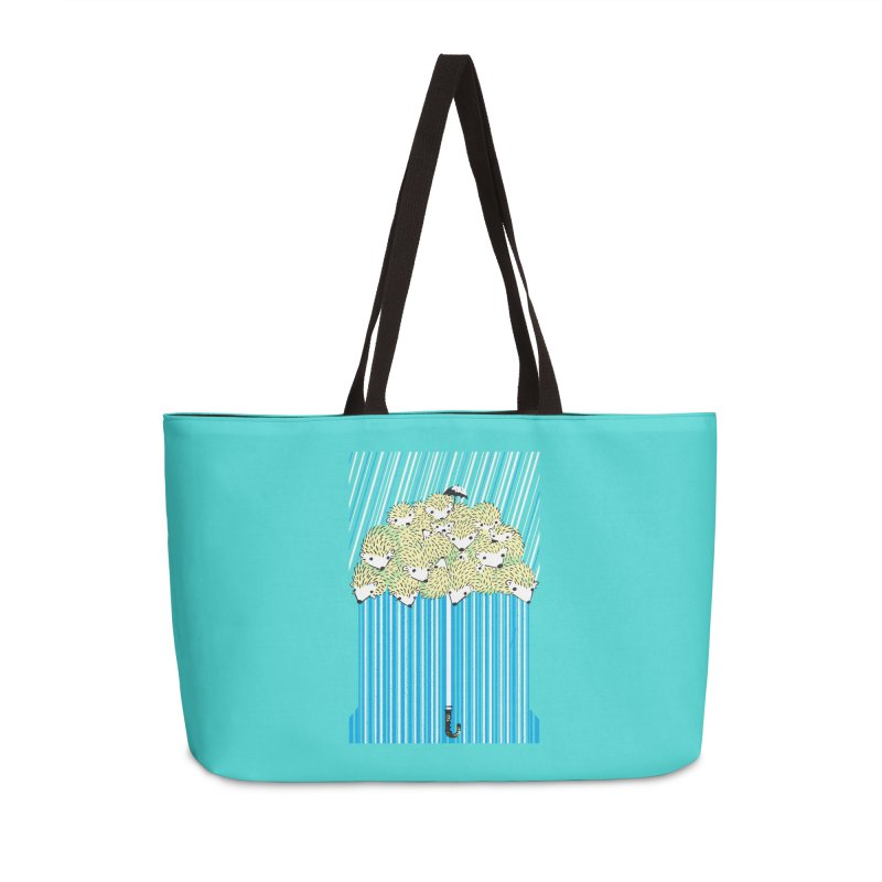 Hedgehog Umbrella Accessories Weekender Bag Bag by Chris Williams' Artist Shop