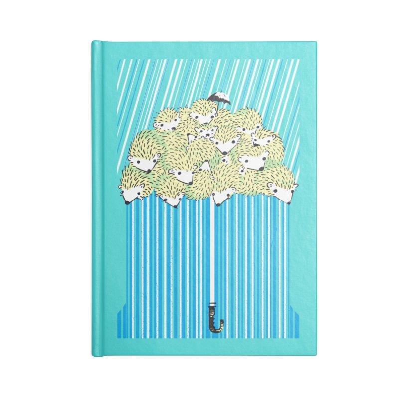 Hedgehog Umbrella Accessories Lined Journal Notebook by Chris Williams' Artist Shop