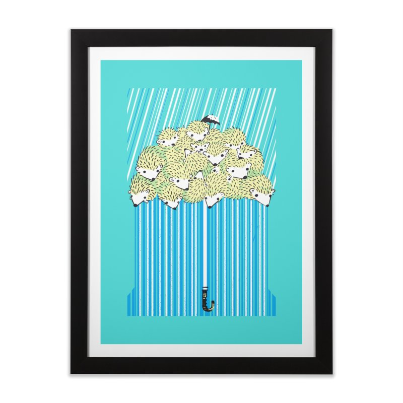 Hedgehog Umbrella Home Framed Fine Art Print by Chris Williams' Artist Shop
