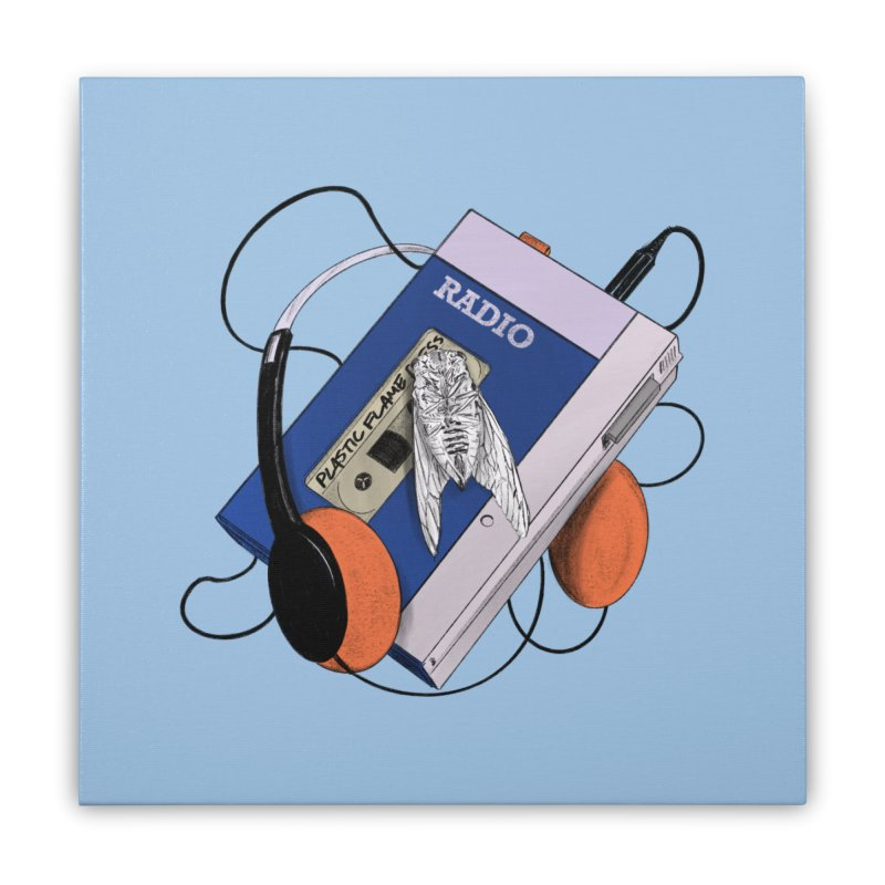 Radio Home Stretched Canvas by Chris Williams' Artist Shop