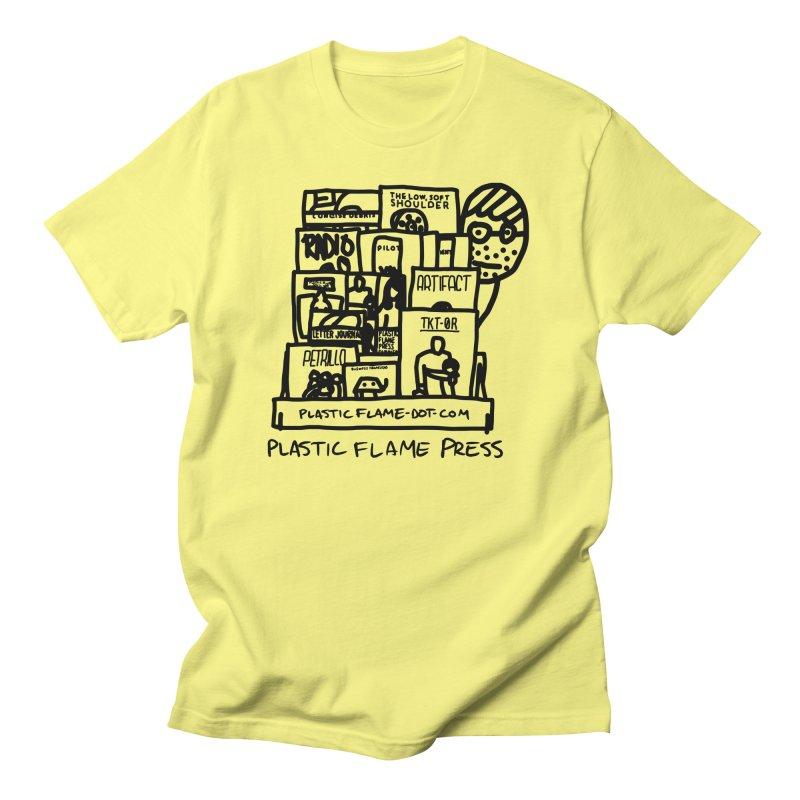 Plastic Flame Press Men's T-Shirt by Chris Williams' Artist Shop