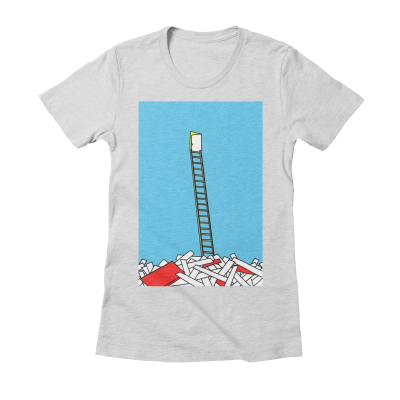 Pile Women's Fitted T-Shirt by Chris Williams' Artist Shop