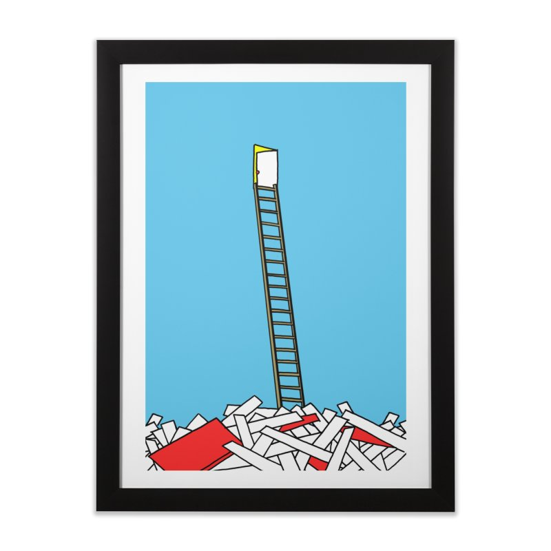 Pile Home Framed Fine Art Print by Chris Williams' Artist Shop