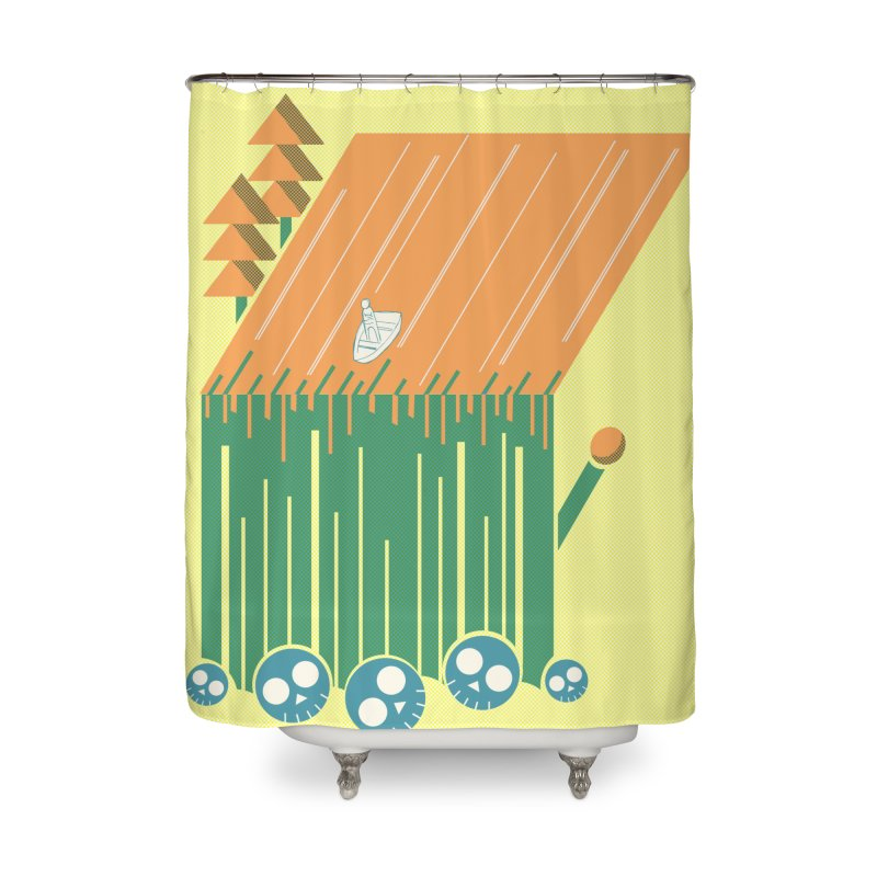 Fire & Water Home Shower Curtain by Chris Williams' Artist Shop