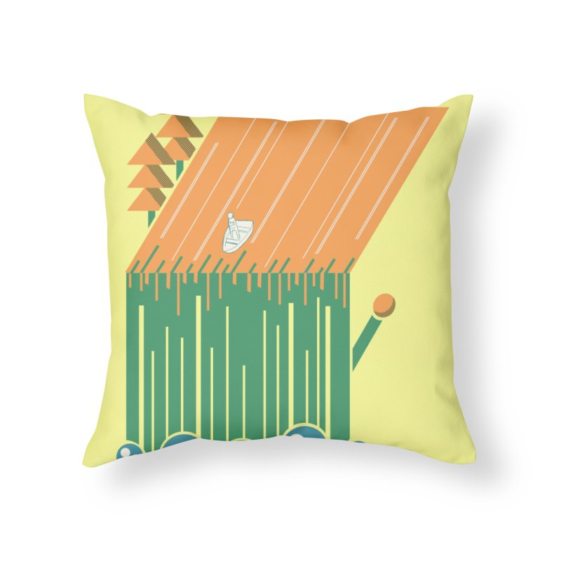 Fire & Water Home Throw Pillow by Chris Williams' Artist Shop