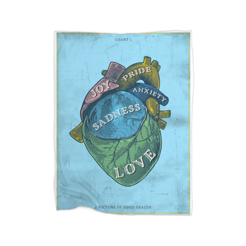 Picture of Good Health Home Fleece Blanket Blanket by Chris Williams' Artist Shop