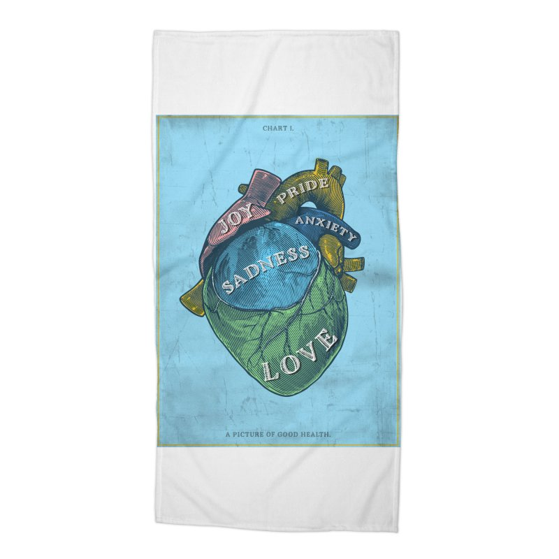 Picture of Good Health Accessories Beach Towel by Chris Williams' Artist Shop