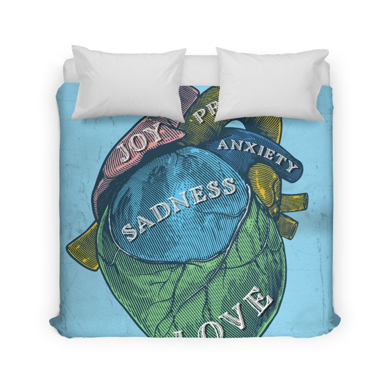 Picture of Good Health Home Duvet by Chris Williams' Artist Shop