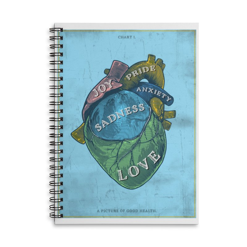 Picture of Good Health Accessories Lined Spiral Notebook by Chris Williams' Artist Shop