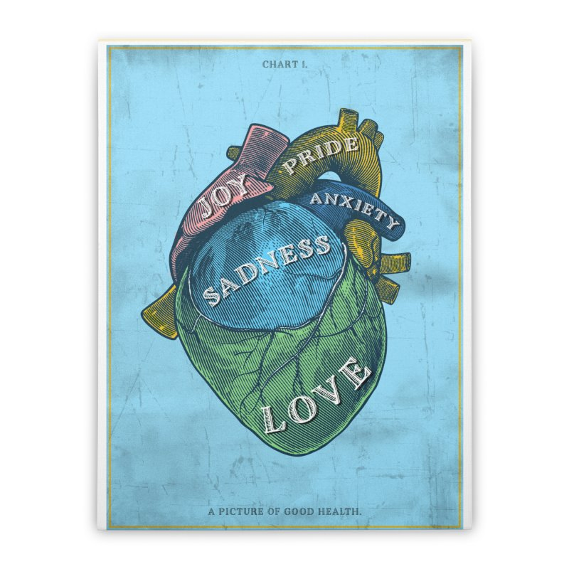Picture of Good Health Home Stretched Canvas by Chris Williams' Artist Shop