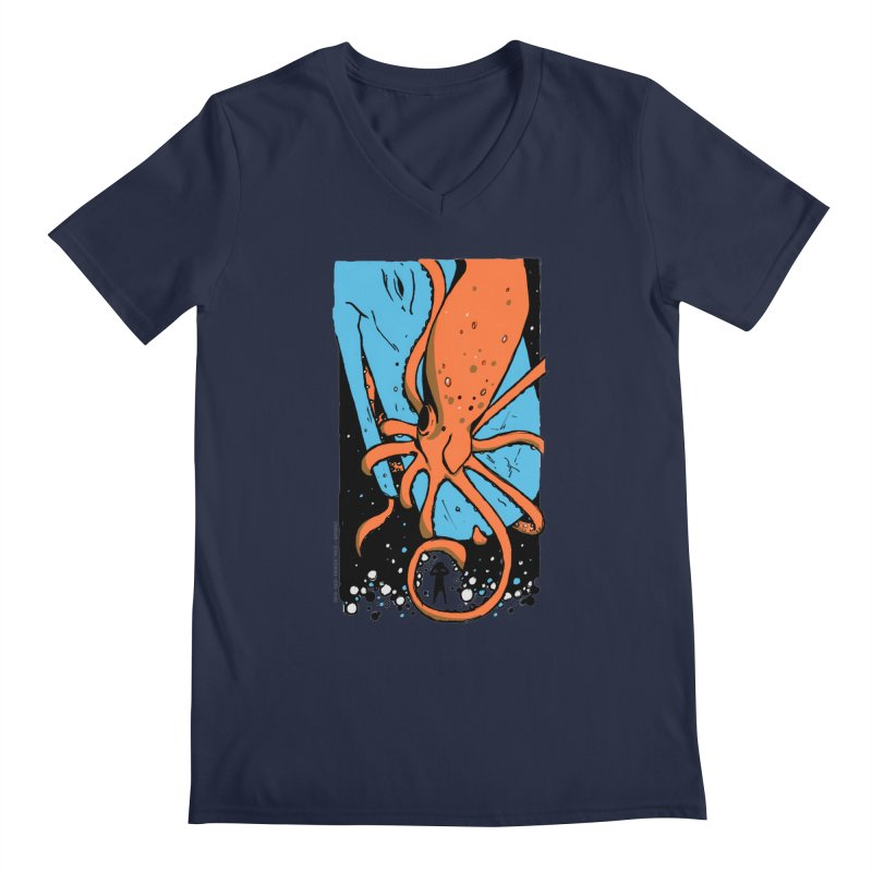 The Squid & the Whale Men's V-Neck by Chris Williams' Artist Shop