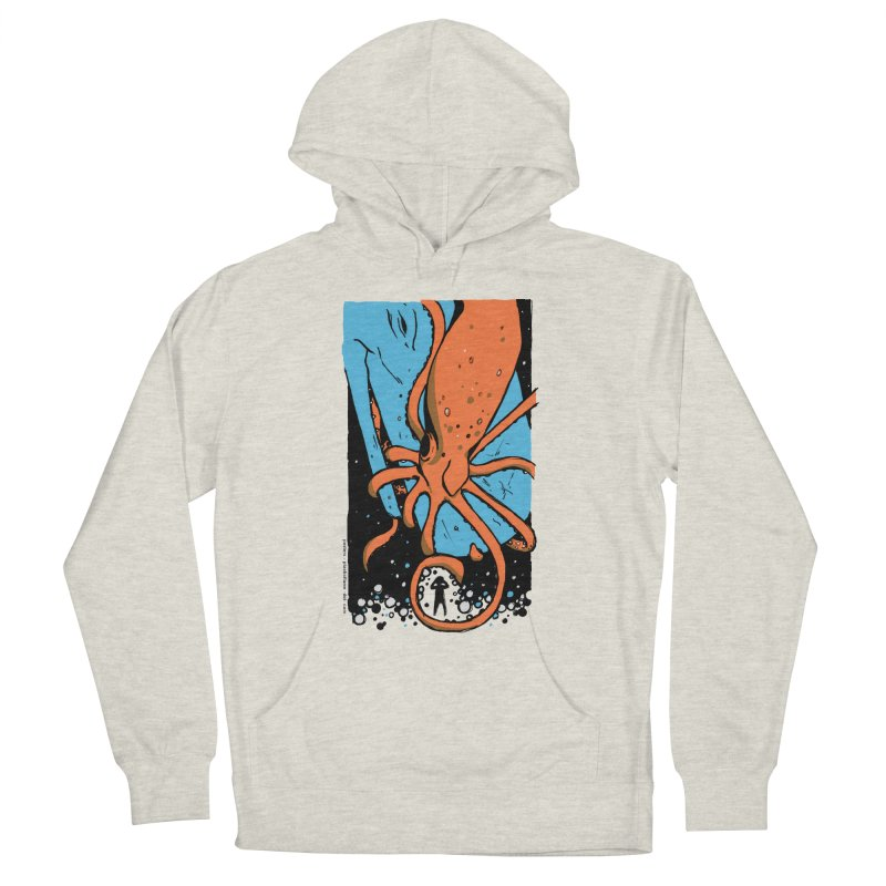 The Squid & the Whale Women's French Terry Pullover Hoody by Chris Williams' Artist Shop