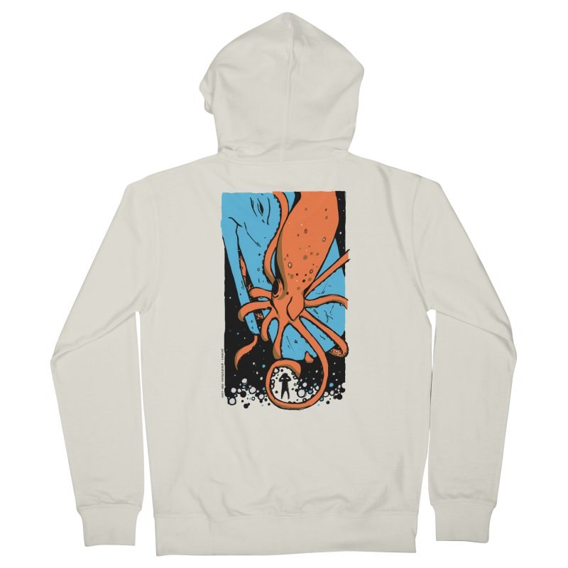 The Squid & the Whale Men's French Terry Zip-Up Hoody by Chris Williams' Artist Shop